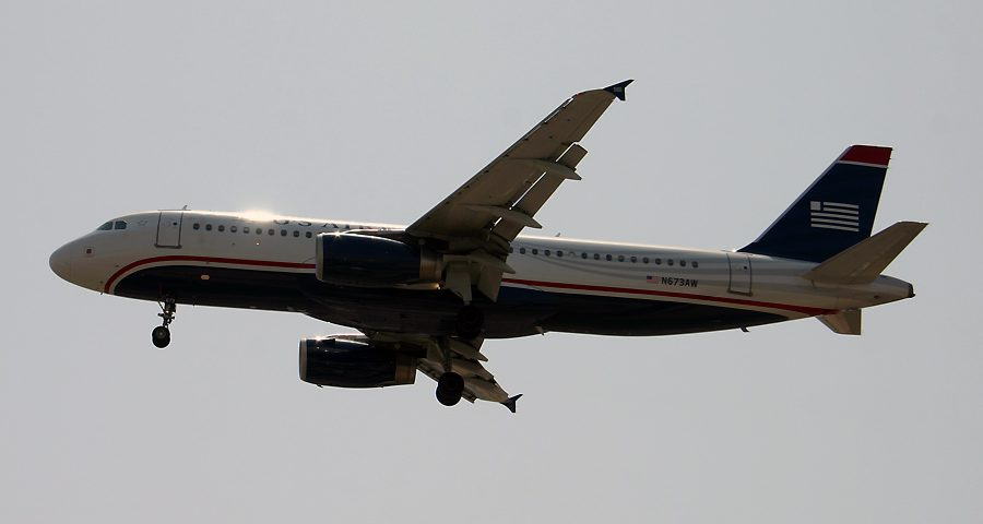 N673AW, US Airways, A320