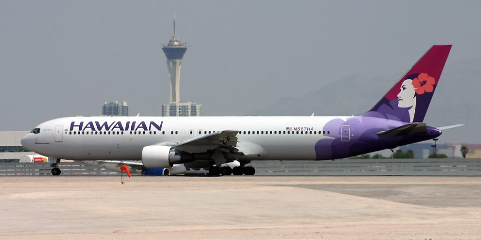 N587HA, Hawaiian, B767-300