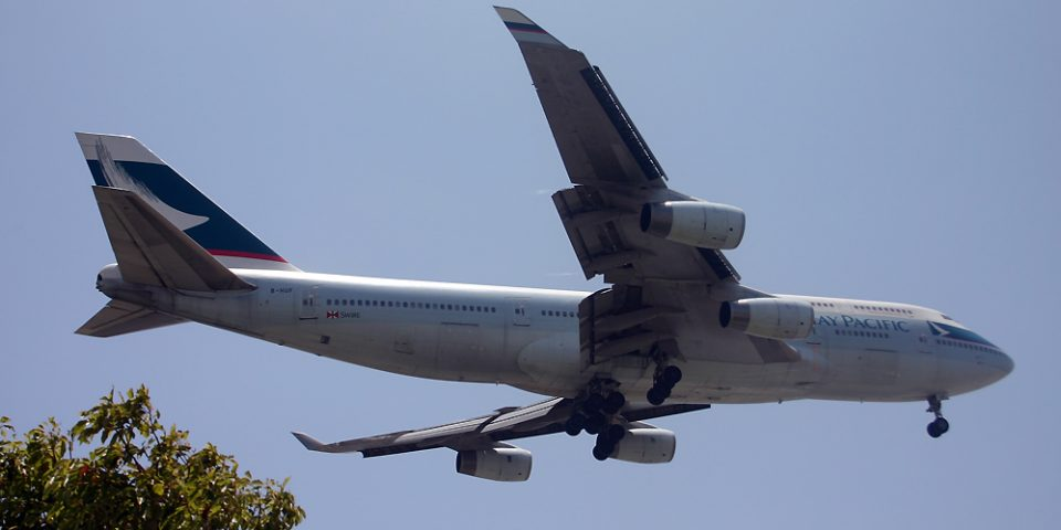 B-HUF, Cathay Pacific, B747-400
