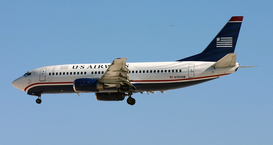 N155AW, US Airways, B737-500