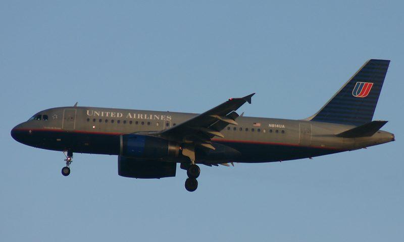 N814UA, United, A319