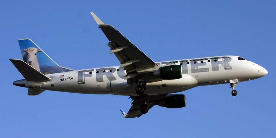 N871RW, Frontier, Embraer 175
