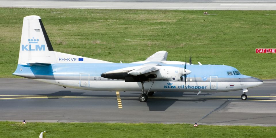 PH-KVE, KLM cityhopper, Fokker 50