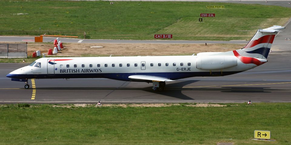 G-ERJE, British Airways, Embraer 145