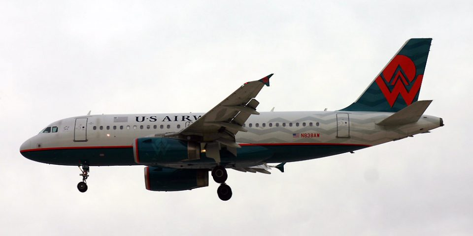 N838AW, US Airways, A319, America West Retro