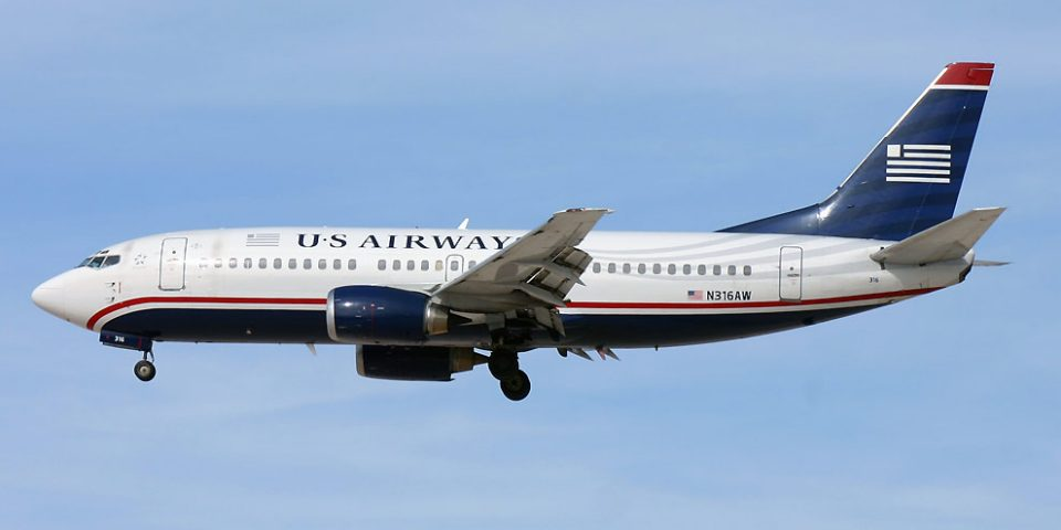 N316AW, US Airways, B737-300