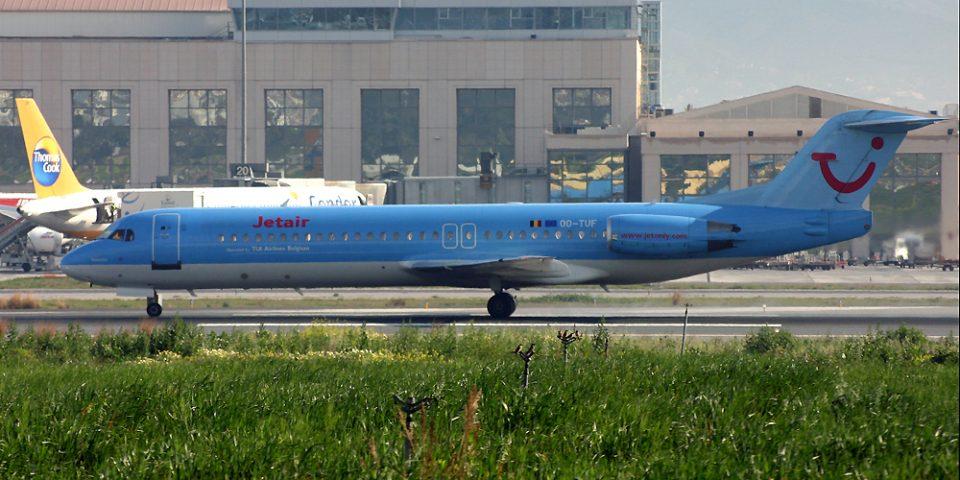 OO-TUF, Jetairfly, Fokker 100
