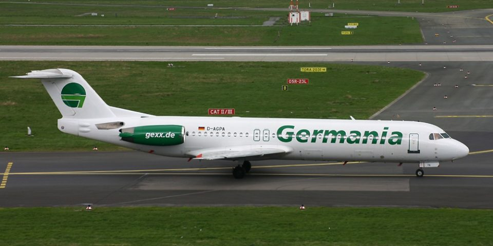 D-AGPA, Germania, Fokker 100, DUS