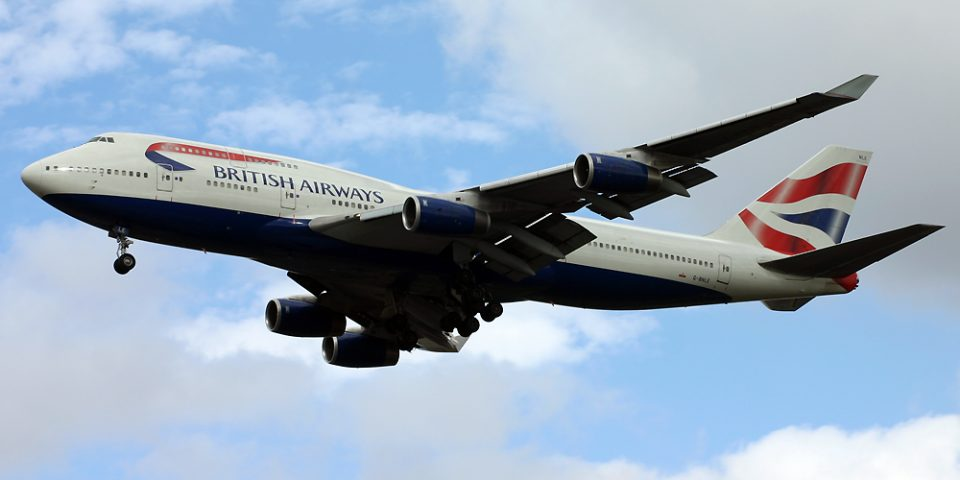 G-BNLE, British Airways, B747-400