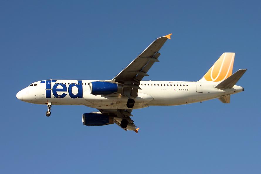 N457UA, Ted, A320
