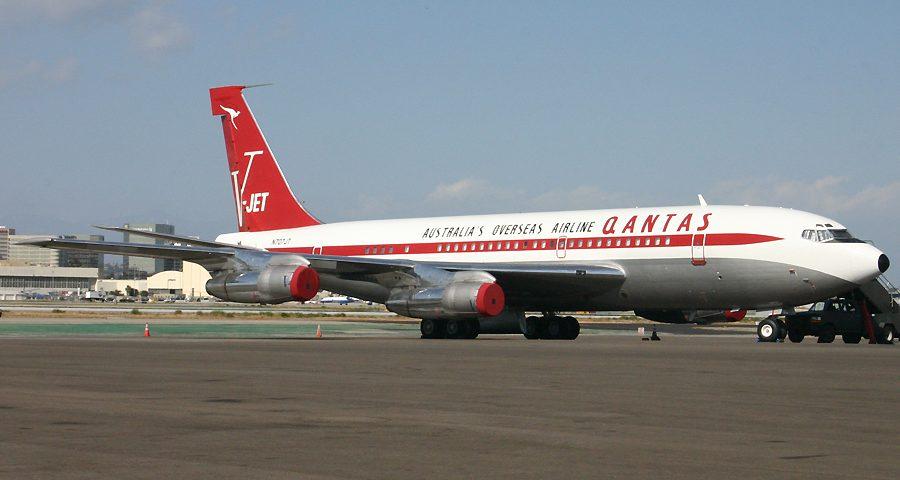 N707JT, Qantas, B707