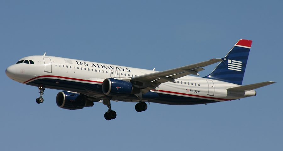 N105UW, US Airways, A320