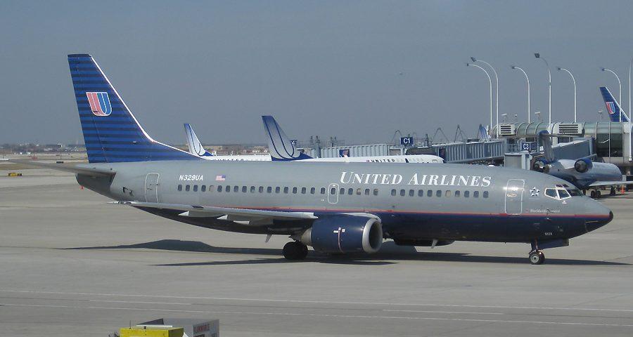 N329UA, United, B737-300