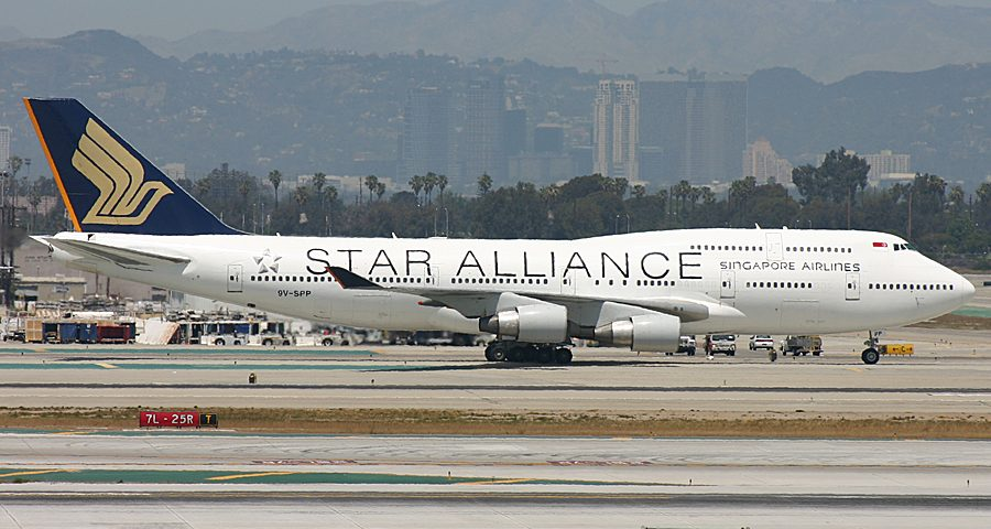 9V-SPP, Singapore Airlines, B747-400, Star Alliance