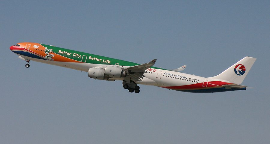 B-6055, China Eastern, A340-600, Expo 2010