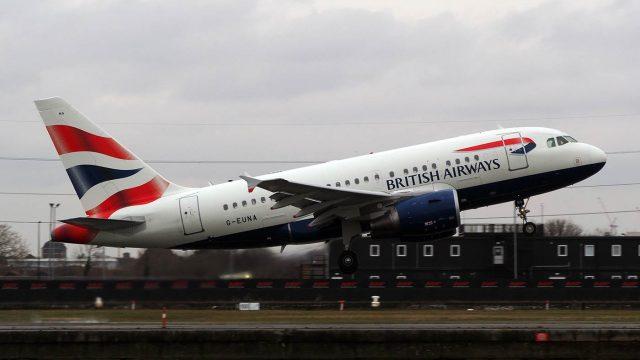 G-EUNA, British Airways, A318