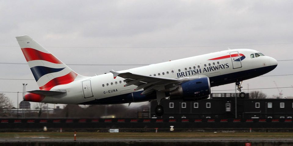 G-EUNA, British Airways, A318
