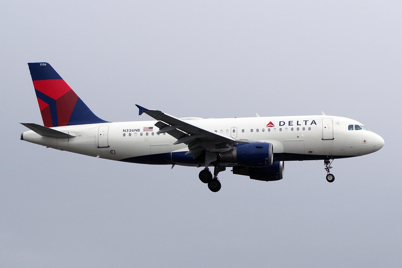 N336NB, Delta, A319