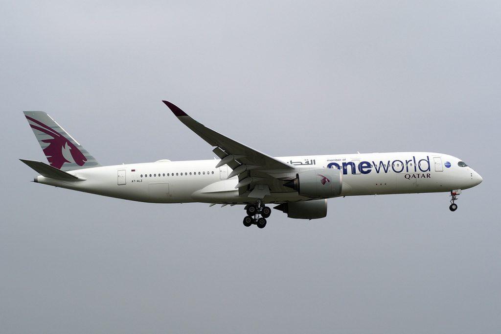 A7-ALZ, Qatar, A350-900, Oneworld