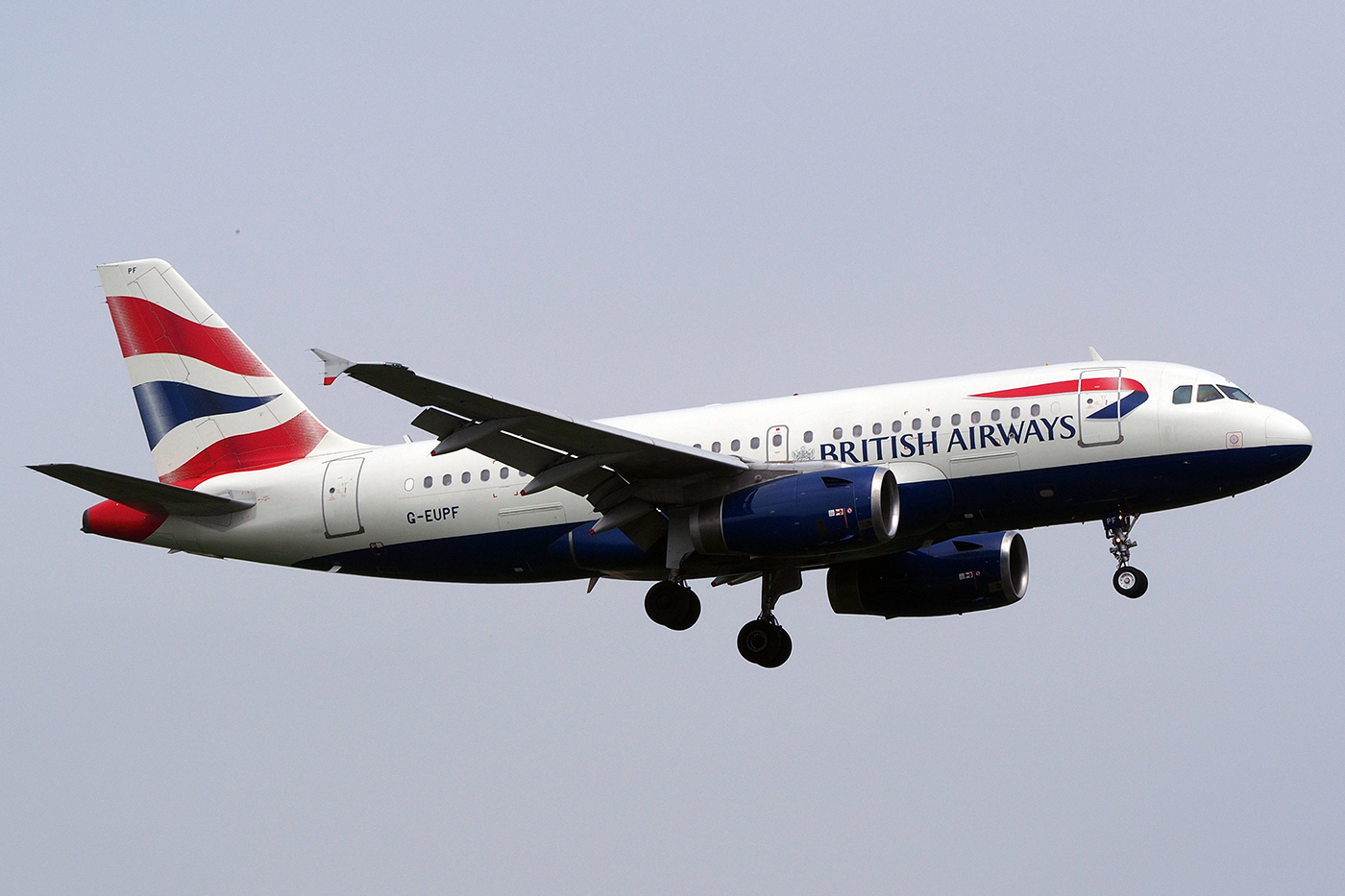 G-EUPF, British Airways, A319