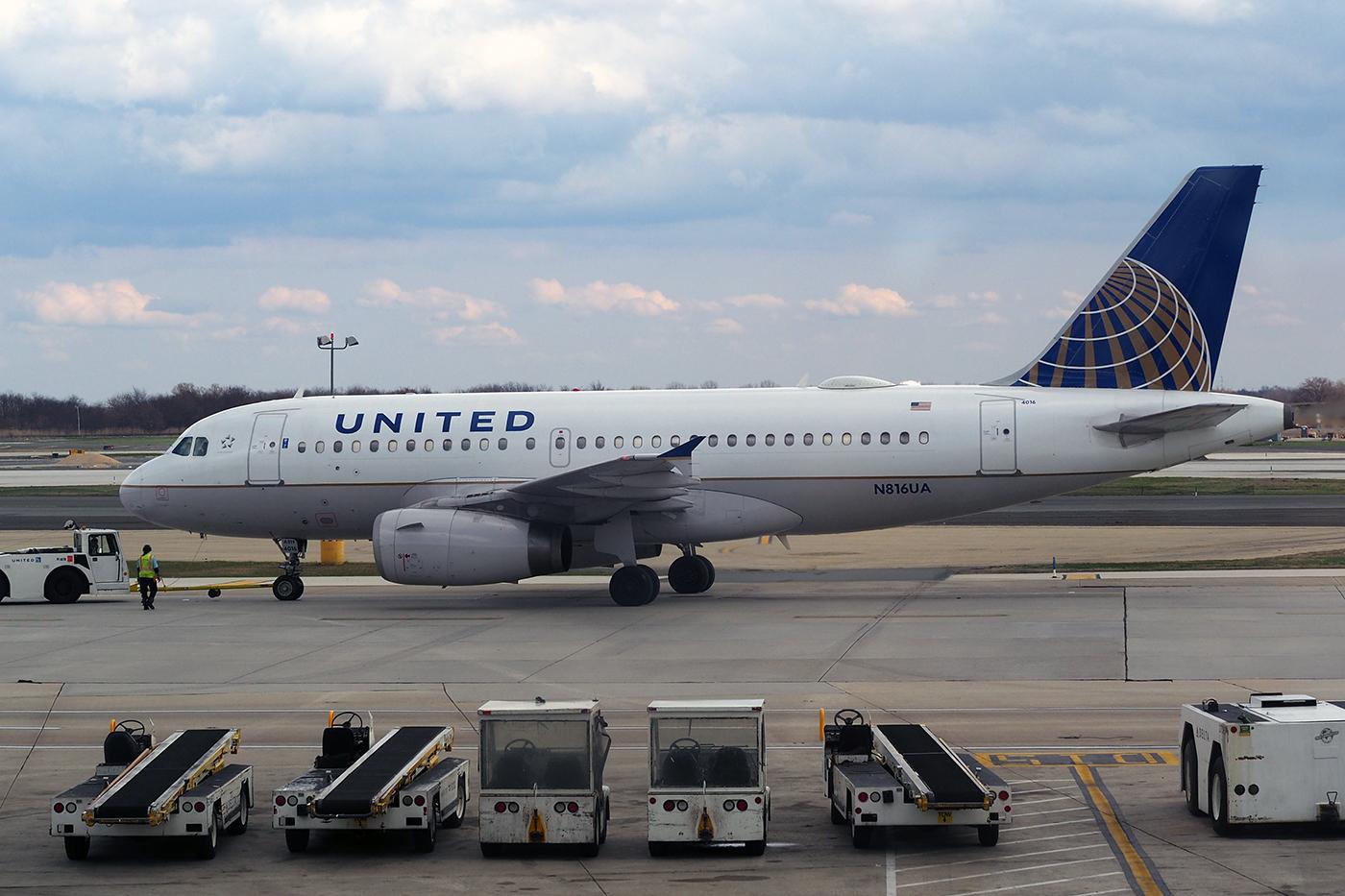 N816UA, United, A319