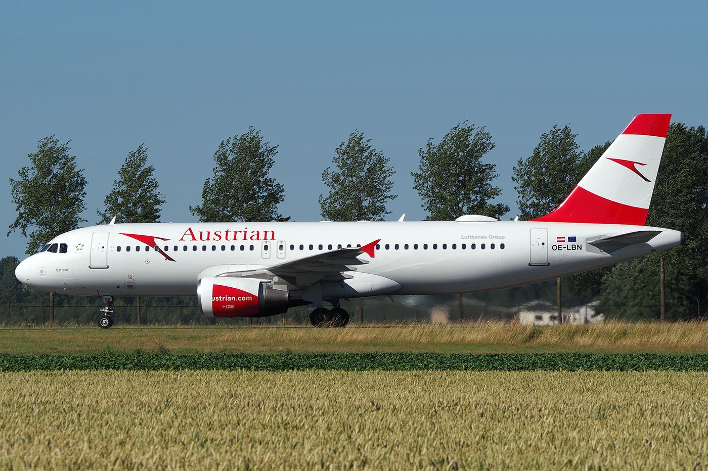 OE-LBN, Austrian, A320