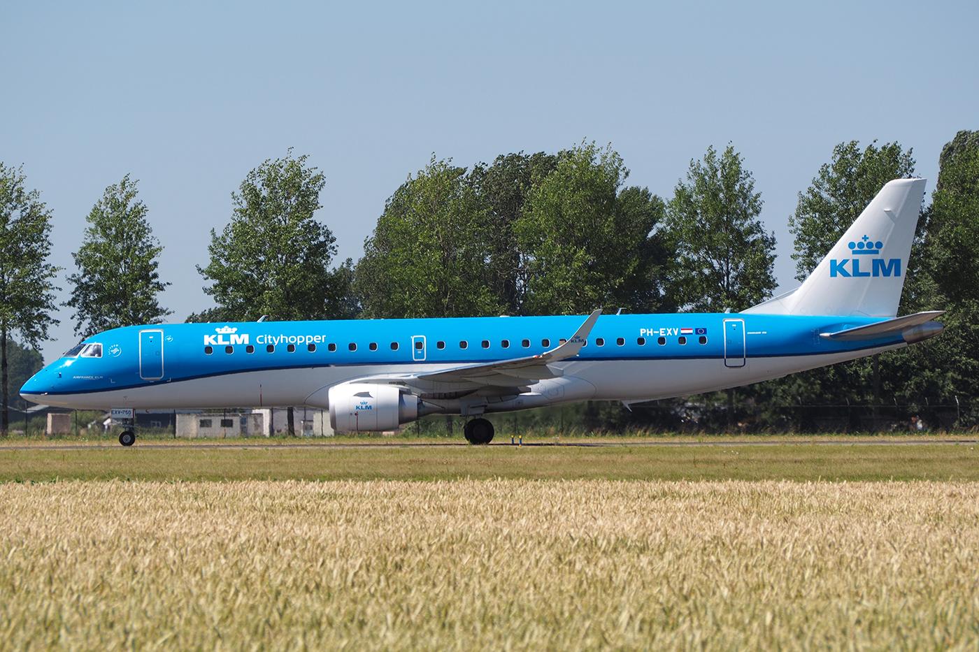 PH-EXV, KLM cityhopper, Embraer 190