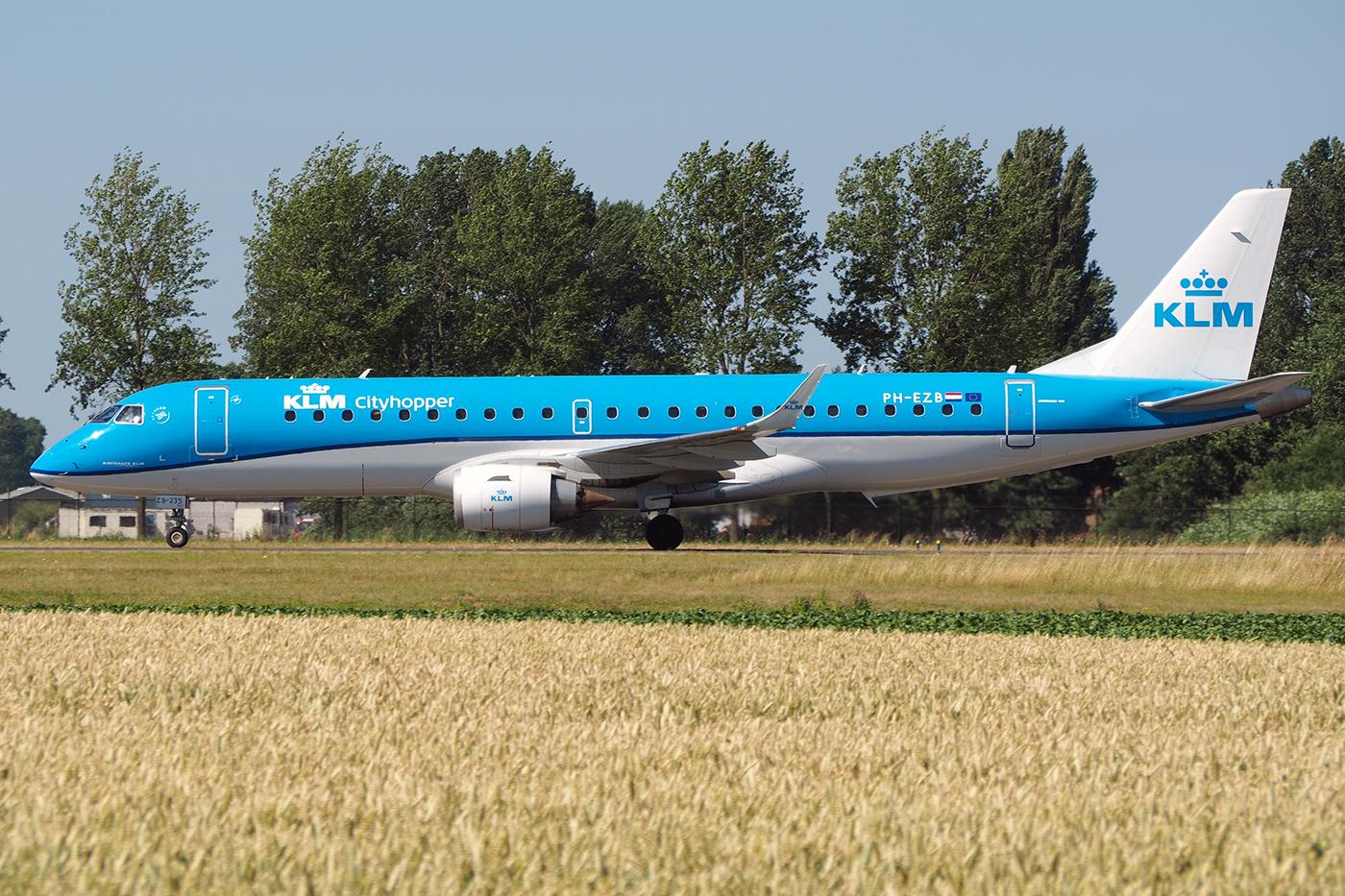 PH-EZB, KLM cityhopper, Embraer 190