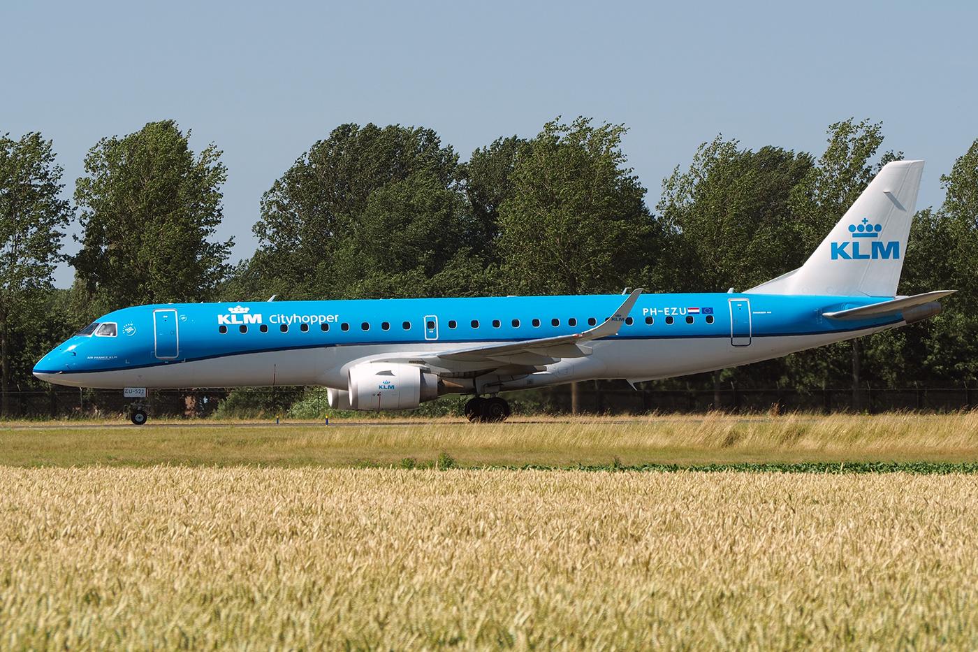 PH-EZU, KLM cityhopper, Embraer 190