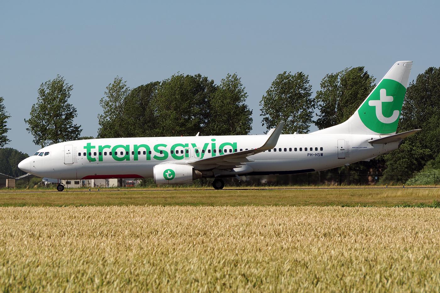 PH-HSW, Transavia, B737-800